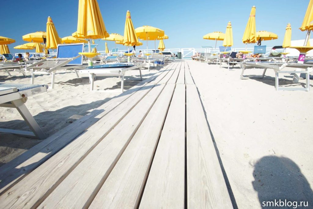 Mondello платный пляж