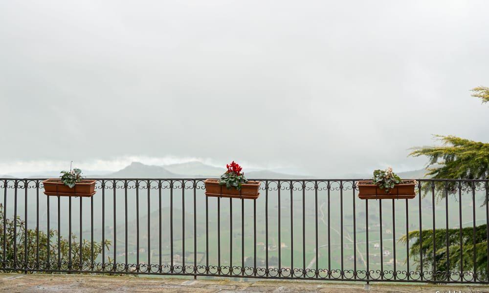 Sicilian town Gangi rain