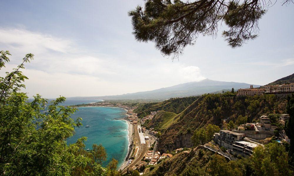 Море и Этна из Таормины