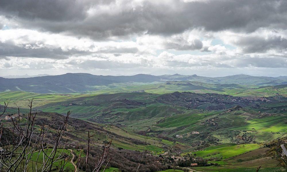 Sicilian landscape shot from Petralia Soprana