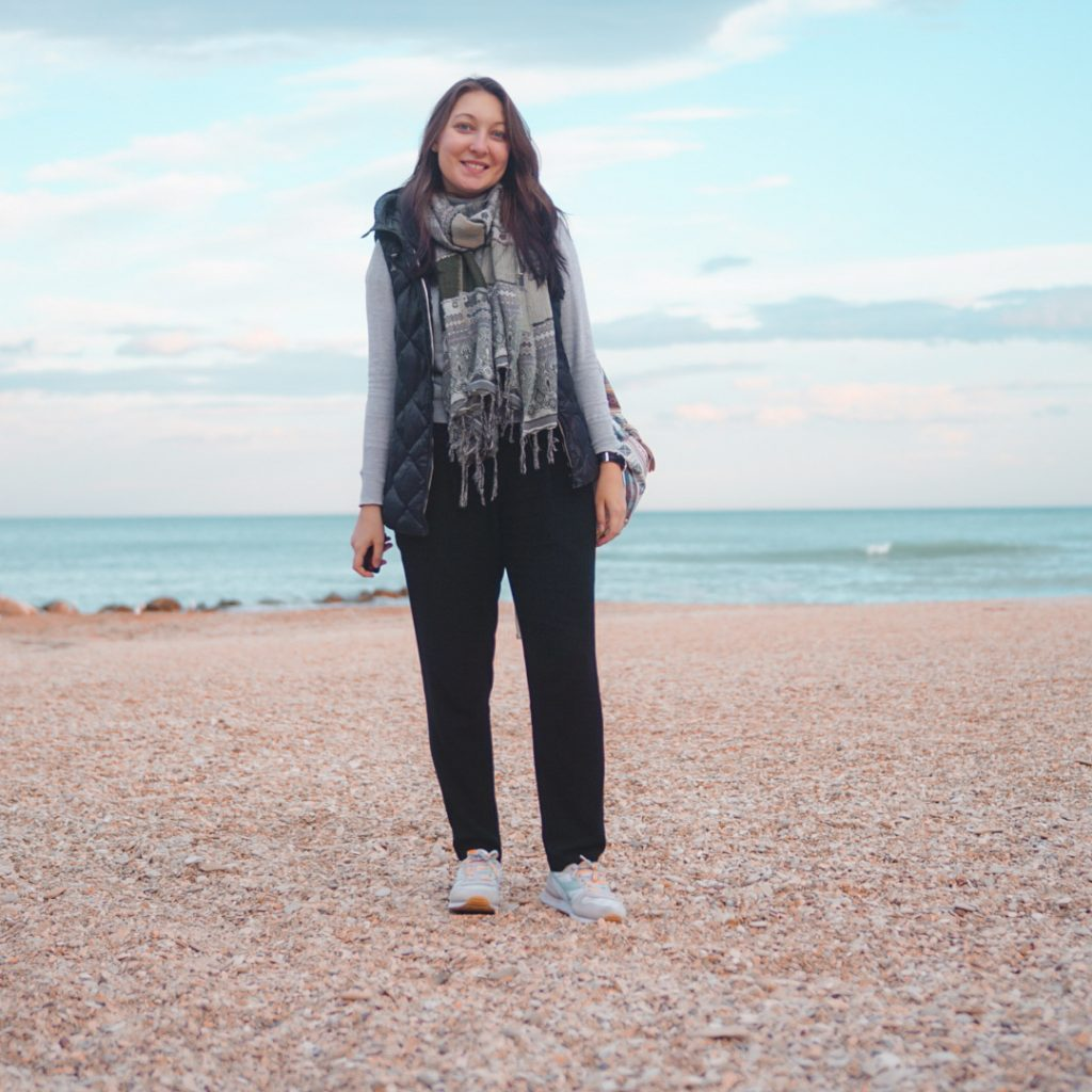 Я на пляже в Порто-Реканати