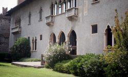 Замок Кастельвьеккио Верона сад